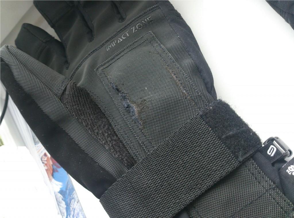 rękawice snowboardowe FOB przetarcie na nadgarstku