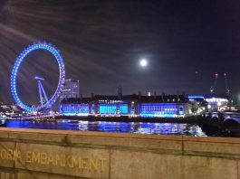 london eye nocą