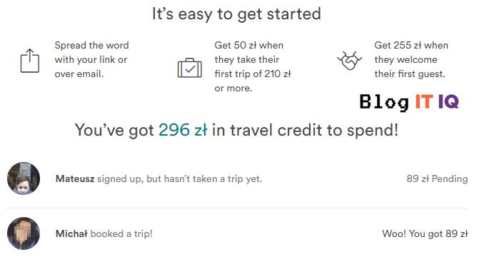 Moje przykładowe zarobki z airbnb