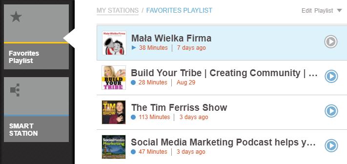 Wybrane podcasty z aplikacji Sticher