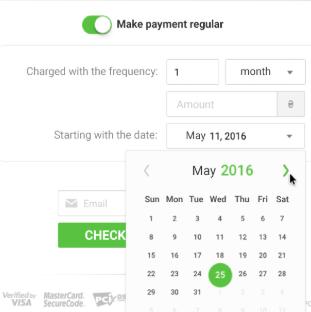 Widok kalendarza płatności